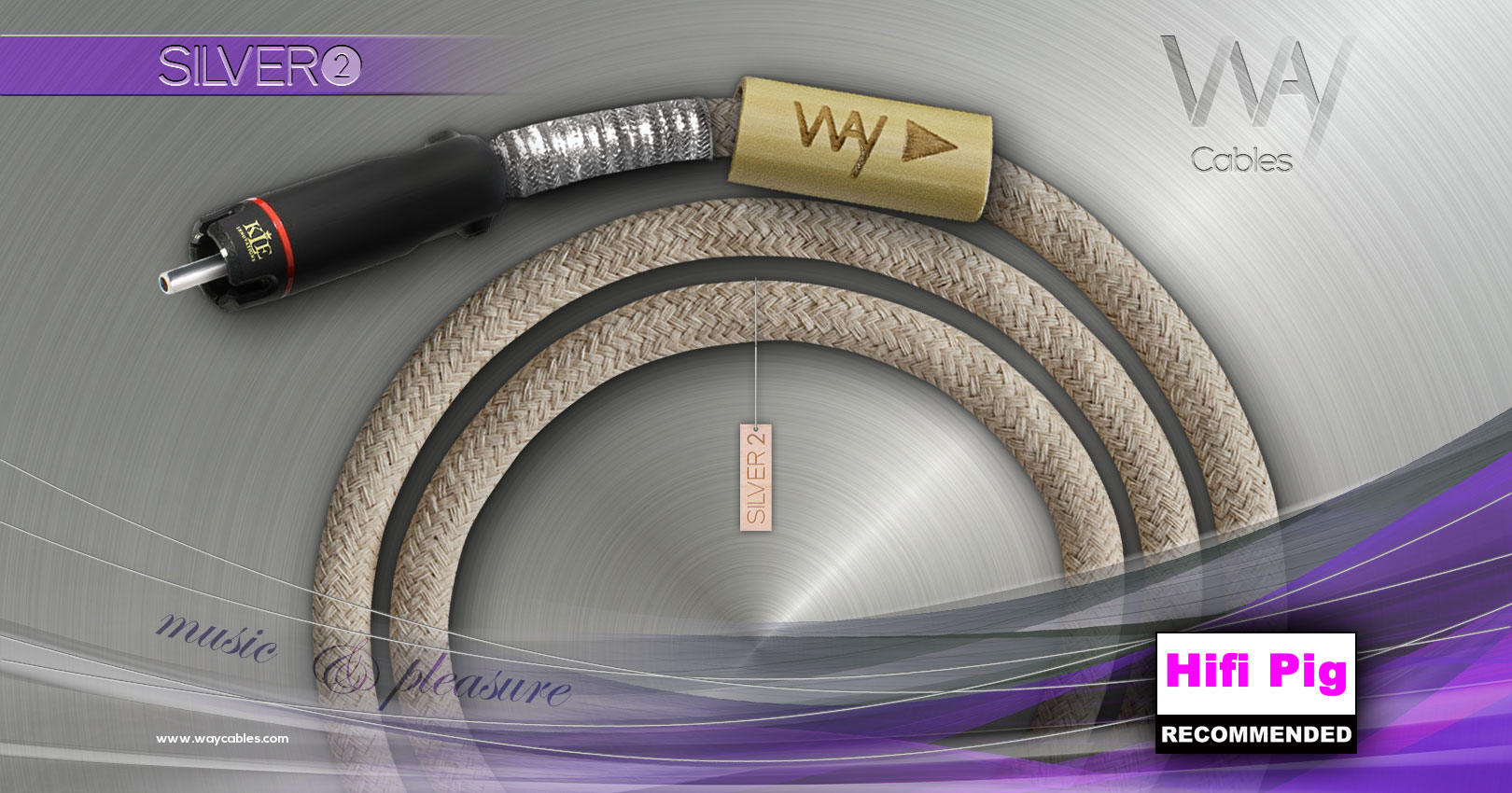 AWARDED Way Cables SILVER 2 interconnect with KLEI Copper Harmony RCA plugs - RECOMMENDED PRODUCT BY HiFi Pig Magazine