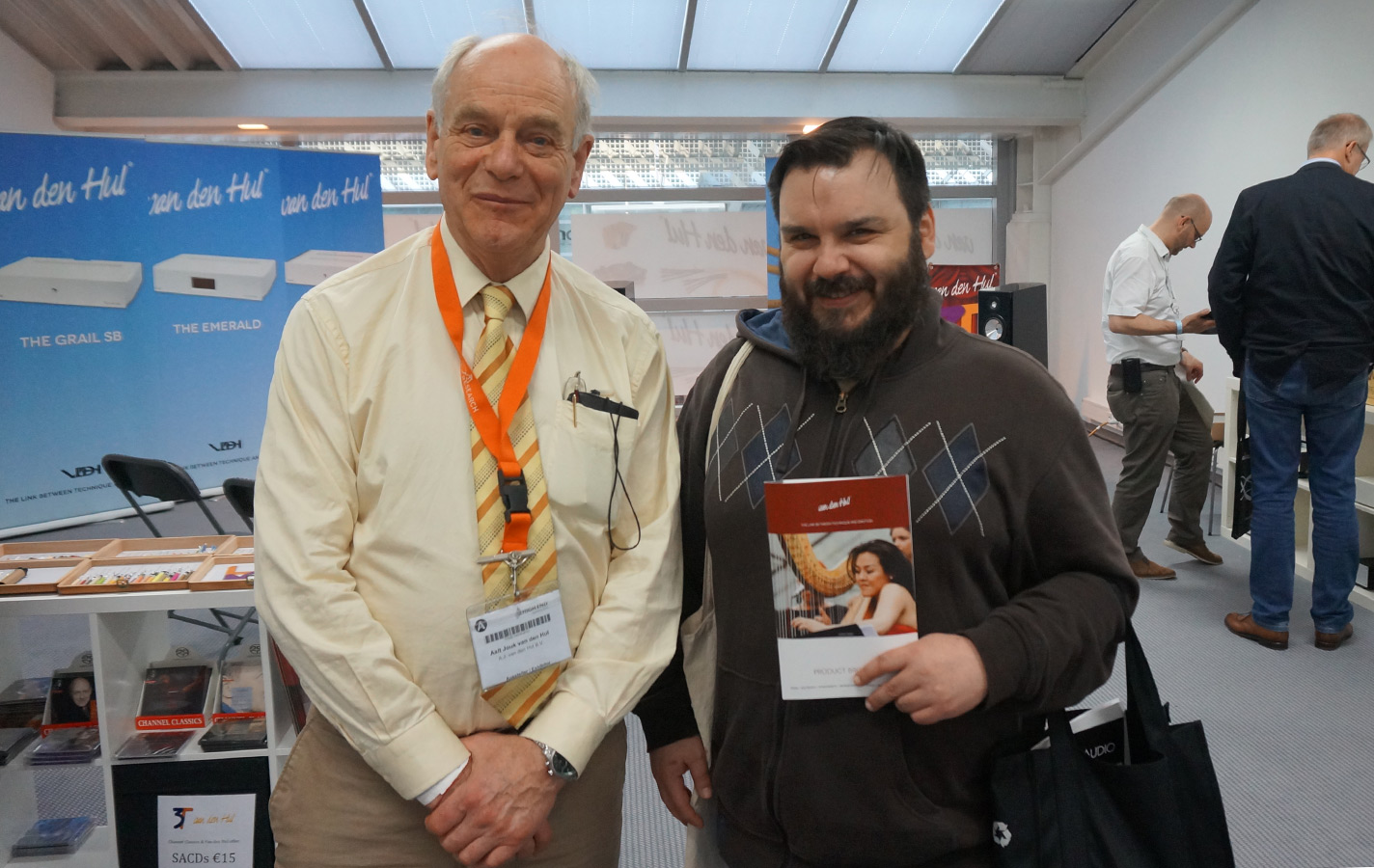 Mr. Van den Hul and Way Cables creator Nune Popovic at the High End Show in Munich 2015