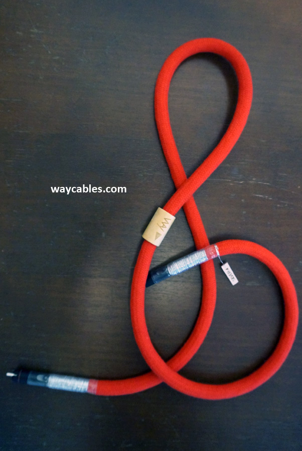 Way Cables Silver 4 interconnect cable - KLEI Absolute RCA - red cotton
