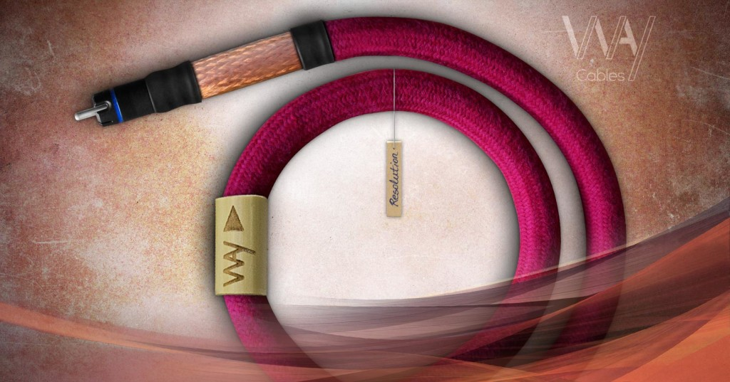 WAY Cables - RESOLUTION - digital audio interconnect with KLEI Pure RCA plugs